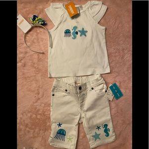 Baby girls 👧 Gymboree 3 piece matching set. NWT